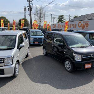 [鯖江店]ワゴンRコーナー入れ替えました「福井・鯖江で軽未使用車を買うならカーボにお任せください!」